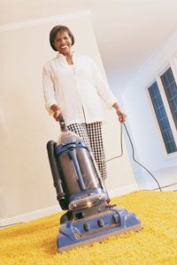 While you may not enjoy vacuuming as much as this woman, your allergies will certainly thank you.
