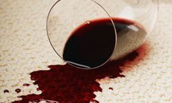 Spilled glass of red wine. Uh-oh!