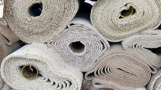 What fiber types are found in carpet?