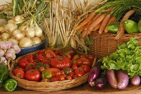 Vegetables are chock-full of dietary fiber.