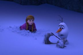 Other than some confusion as to the location of his feet, Olaf survives his long fall with no complications.