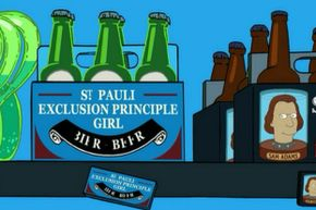 """We love all of the science humor  in """"Futurama,"""" and also the reassurance that Sam Adams is still remembered as a brewer and patriot in the year 3000."""
