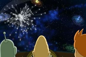 """If you believe the writers and animators on """"Futurama,"""" the end of the universe looks a lot like the end of a day in the Magic Kingdom – complete with beautiful fireworks."""