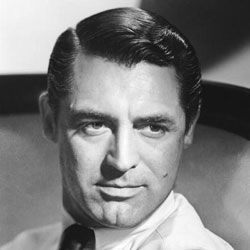 Cary Grant's side-part style was popular in the 1940s.