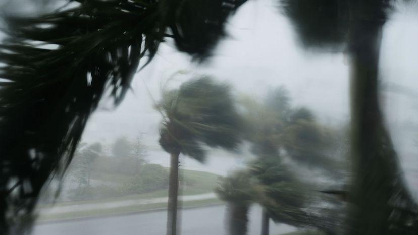 Hurricane Irma hitting Florida