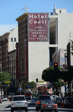 exterior of the Cecil Hotel