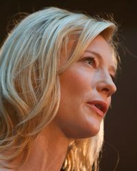 Sailors say that the luminosity of Blanchett's skin can direct them to land.