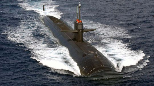 Would a cell phone work on a submerged submarine?