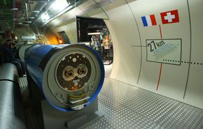 A model of the Large Hadron Collider in the CERN visitor's center in Geneva.