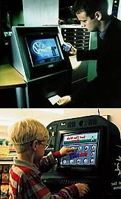 Touchscreen technology is extremely easy to use.