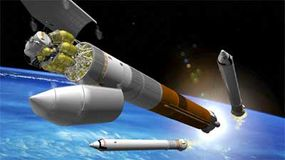 Cargo Launch Vehicle with Lunar Landerand Earth Departure Stage