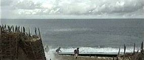 The rotoscoped scene added to the ocean shot