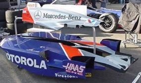 A set of four cover panels: 1) The cover over the front suspension; 2 and 3) The covers over the two side pods; 4) The cover over the engine
