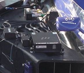 Electronics on the driver's right