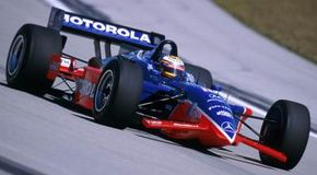 Champ Cars have carbon fiber bodies, 900-horsepower engines and top speeds of over 230 mph!
