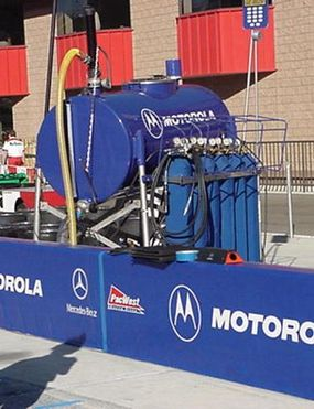 The team's fuel and compressed nitrogen for use during the race