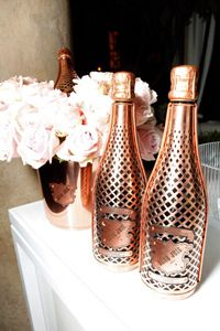 Bottles of Beau Joie champagne sit ready for the Warner Music Group GRAMMY celebration on Feb. 12, 2012, in Los Angeles.