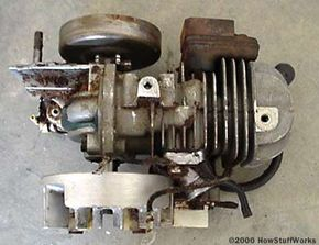 Top view of the engine