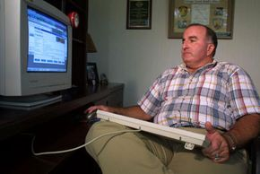 Florida Department of Law Enforcement Special Agent Don Condon monitors a chat room looking for sexual predators.
