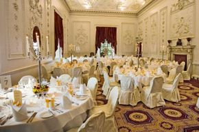 Image Gallery: Reception Venues The banquet hall looks gorgeous, but it's up to you to keep the room buzzing with activity. See pictures of wedding reception venues.