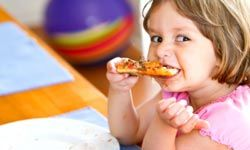 Your kids will love making their own pizzas.