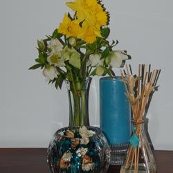 An inexpensive bouquet of flowers will brighten up any space.