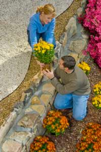 Try splitting up your landscaping project into manageable tasks.