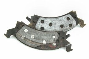 An example of worn brakes.