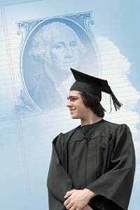 Graduating from college is a proud moment, but it can cost a lot of money. Question is: Who's paying?