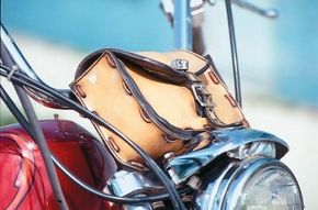 The Cherry's custom touches include a small satchel between the midrise handlebars.