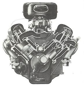 The 1958 version of the Turbo-Thrust 348 V-8. Though it started as a truck engine, it formed the basis of the legendary 409, introduced in mid-1961.