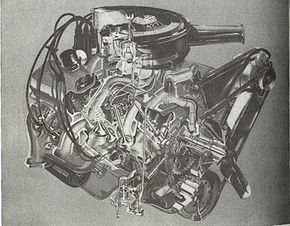 For 1967, the big-block Mark IV was bored out to 427 cid. Thus is the 390 horse version; 452 bhp was also available.