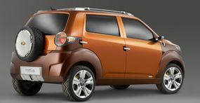 """Trax is one of three new General Motors """"global"""" concept vehicles unveiled at the 2007 New York Auto Show to test public reaction to a new class of small Chevrolets."""