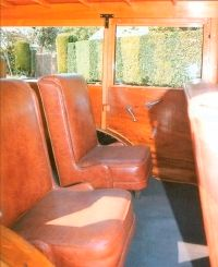 The 1931 Chevrolet Series AE station wagon shown here uses brown vinyl instead of the original leather.