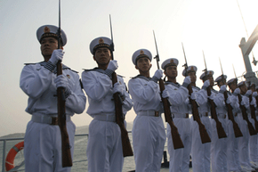 The Chinese Army has roughly 2.25 million soldiers. See pictures of Beijing.