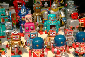 Today's robotics toys are complex, educational, and make vintage robots seem like, well, child's play.