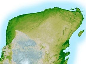 A map of the Chicxulub crater