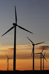Offset projects can help fund renewable energy like wind power.