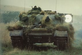 The Chieftain Main Battle Tank was armed with the 120mm L11A5 rifled main gun, which made it one of the most heavily armed MBTs of its time.
