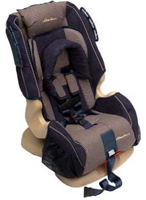 This convertible car seat can be a rear-facing infant seat, a forward-facing toddler seat, and a forward-facing booster seat for older children.