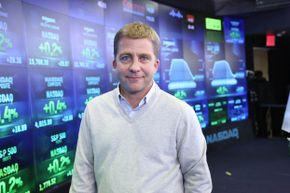 Peter Billingsley ringing the NASDAQ opening bell on December 13, 2013 in New York City.