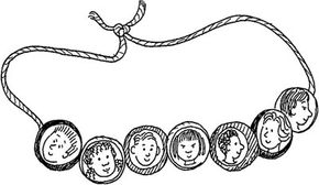 Faces of the World Necklace Children's Day Craft