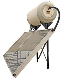 A solar water heating system can save you quite a bit of money each year.