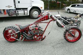 """Orange County Choppers' """"Spiderman"""" Bike"""