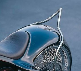 A pointed sissy bar makes an impression.