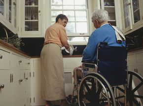 So-called cozy kitchens can be a real hassle for someone in a wheelchair.