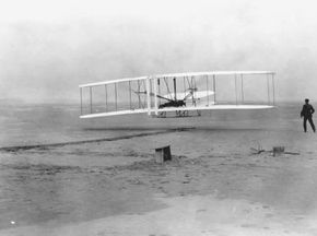The Wright Brothers' first flight. See more flight pictures.