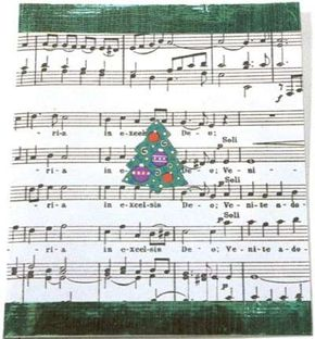 A musical invitation to a Caroling Party.