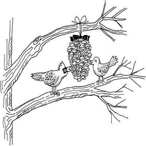 Peanutty Pine Cones Christmas Activity