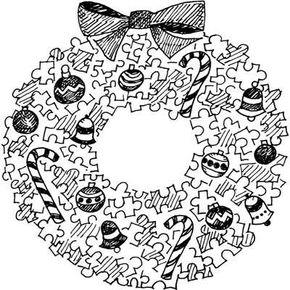 Puzzle Wreath Christmas Activity